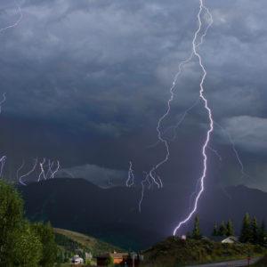 climate lightening strike