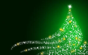 green-christmas-wall
