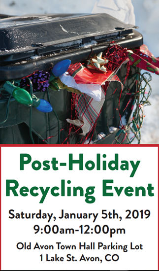 hard to recycle event Jan 5th