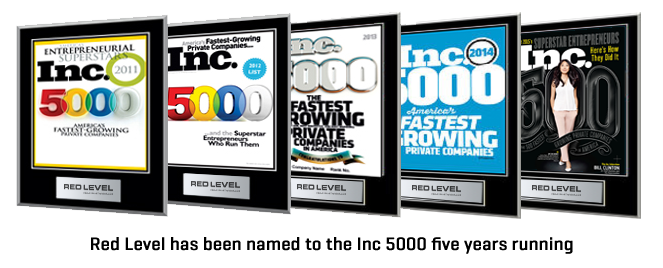 Red Level has been named to the Inc 5000 five years running