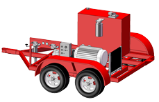 Electric-Hydraulic Power Units-Trailer Mounted