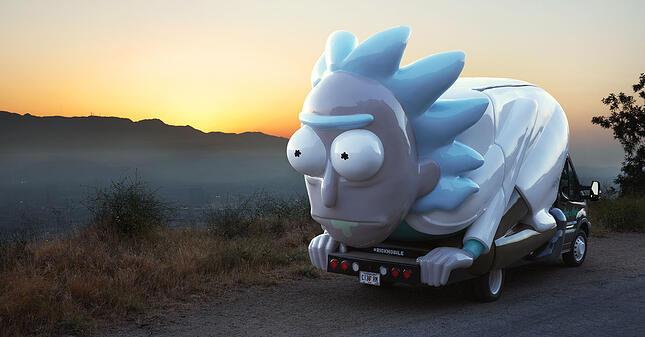 Have you seen this Rick? Adult Swim's traveling pop-up.