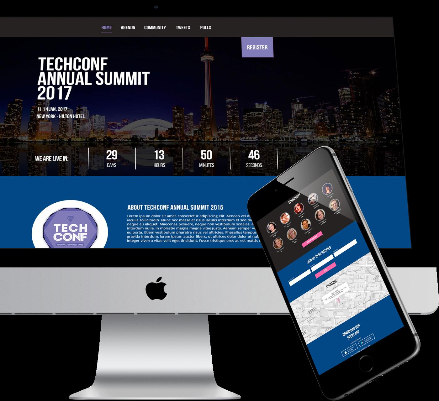 Customizable Event Website
