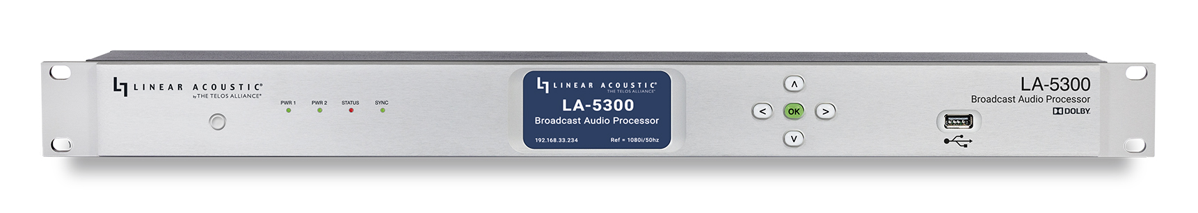 Linear Acoustic LA-5300_Front_Transparent