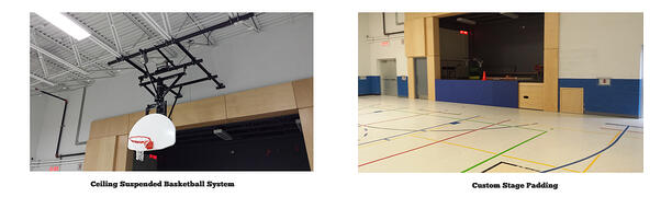 A new gym addition for maurice lapointe high school for How much to build a basketball gym