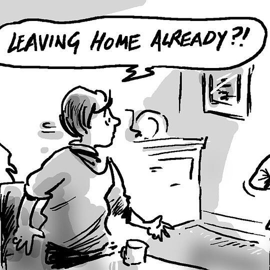 Are children staying at home longer? 'Leaving home already?'