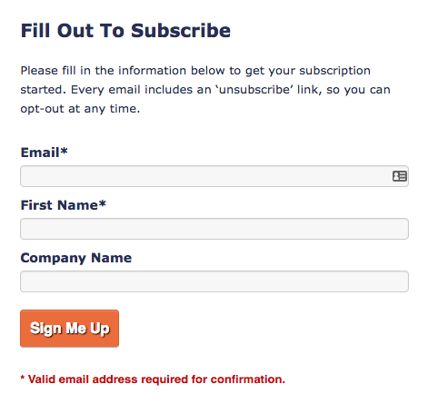email-marketing-form-example
