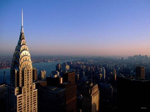 View of Manhattan and the Empire State Building