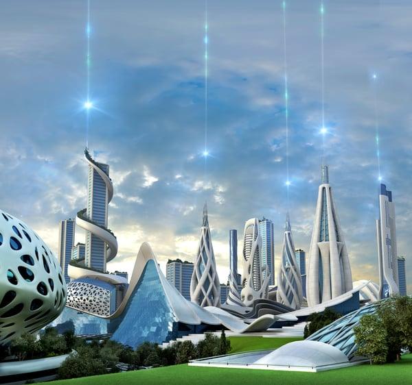 utopian city scape