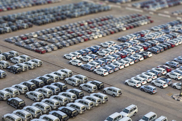 parked cars lot