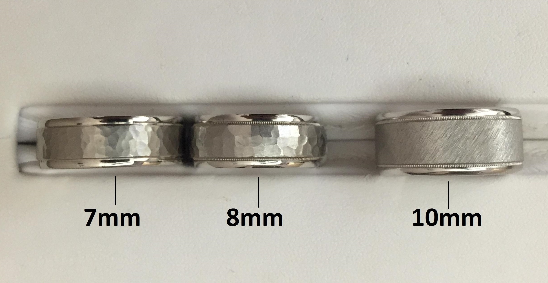 Fairy new wedding rings Average male wedding ring width