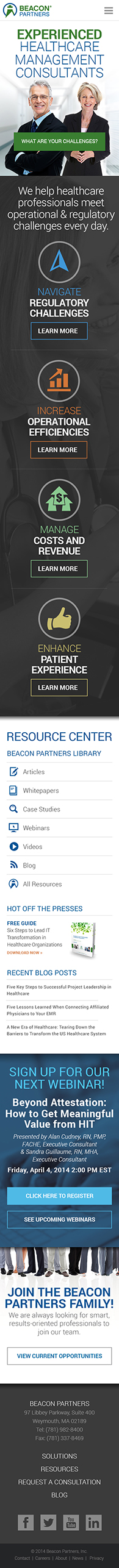 Beacon Partners Mobile Example