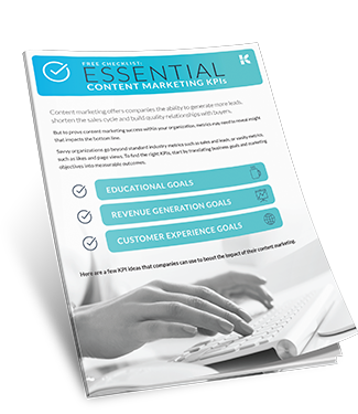 Essential Content Marketing KPI Interactive Checklist