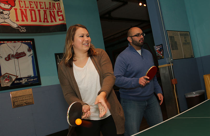 Onix Employees Ping Pong