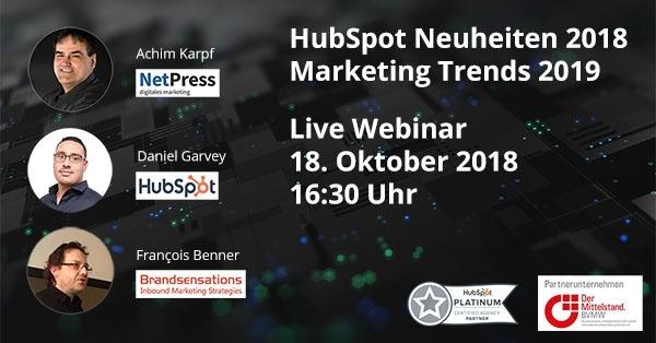 Live Webinar mit HubSpot