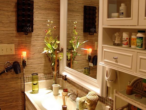 Bathroom wallpaper decoration ideas 2