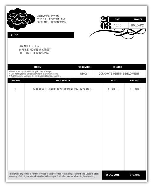 Freelance Design Invoice Template Operlyingfo