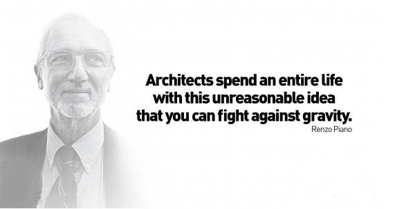 renzo piano philosophy Renzo piano architect renzo piano was born in genoa, a port city to the north of italy, renzo piano grew up with the sea in his blood and the crystalline light in his eyes it's little wonder he felt at home in miami.
