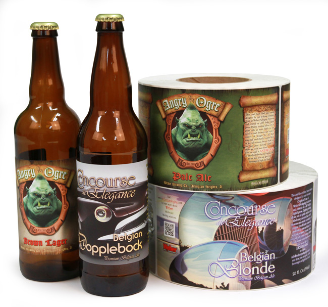 Craft beer labels in small batches