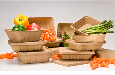 compostable fiber containers