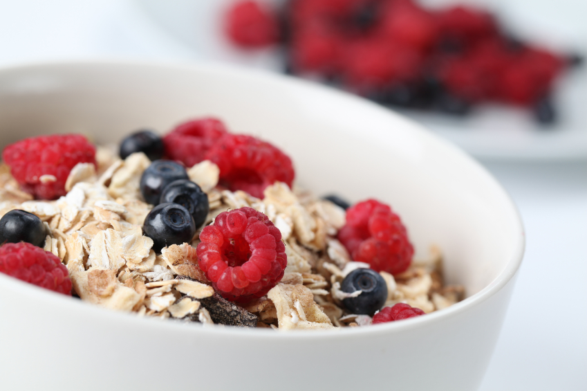 Oatmeal and berry breakfast