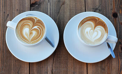 heartshaped lattes