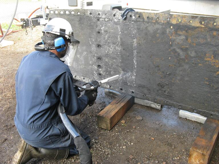 How dry ice cleaning safely removed corrosion from civil war ship