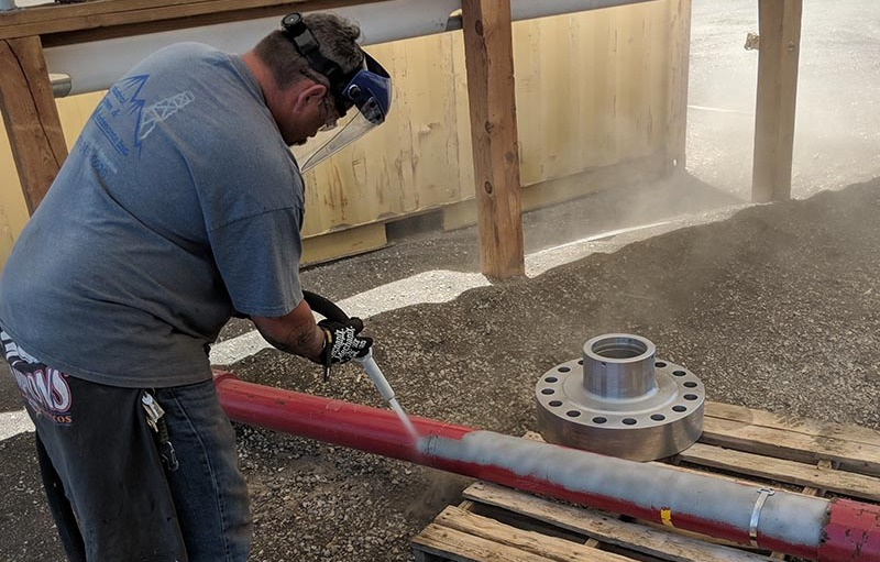 Dustless blasting without the water
