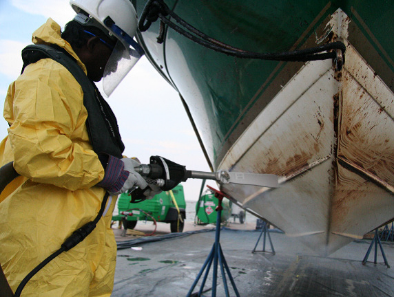 How vessels were safely decontaminated after environmental disaster