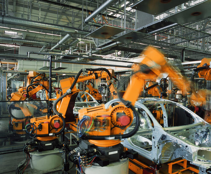robotic automotive weld line-ORANGE