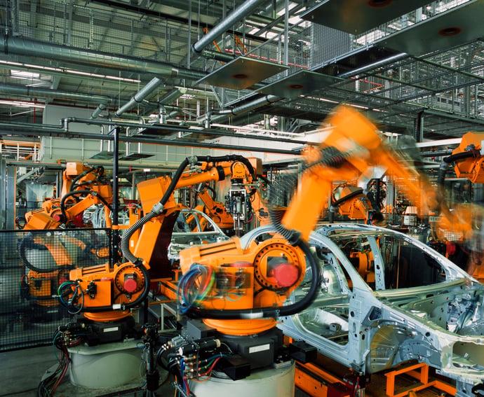 robotic automotive weld line-ORANGE