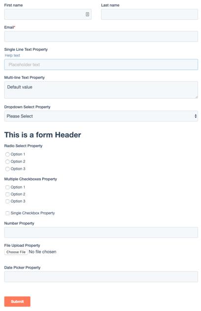 Hubspot Form Markup