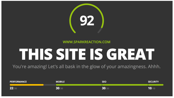 Website Grader SparkReaction.png