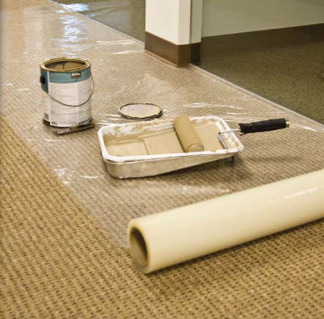 GPS Carpet Plastic-Self Adhesive Covering To Protect Carpets