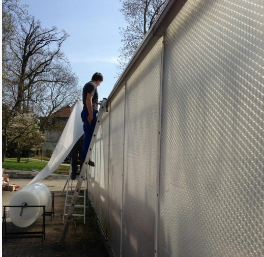 Plastic sheeting for greenhouses