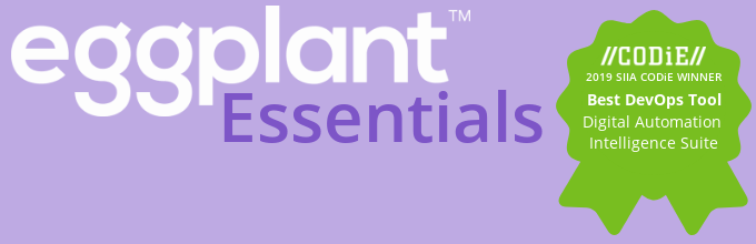 Eggplant Banner/ CODiE awards badge