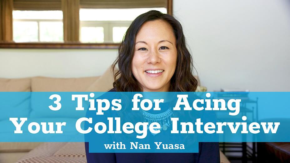 Three Tips for Acing Your College Interview