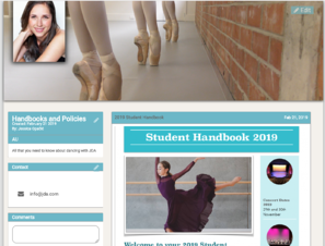 Dance studio handbook