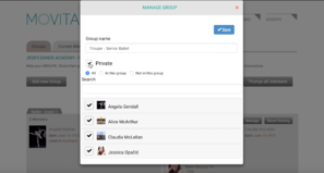 Movitae set groups to private