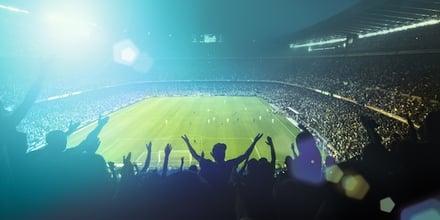 Sports stadium crowd