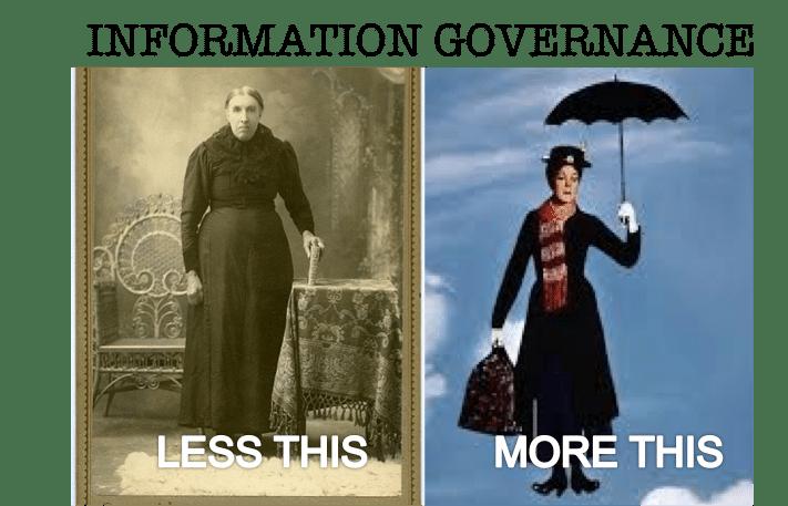 Information Governance -- less risk, more opportunity