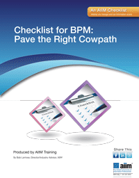 Checklist for BPM: Pave the Right Cow Path