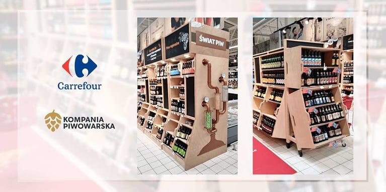 Carrefour & piwo - kategoria piwa to jedna z najważniejszych kategorii sprzedaży, bez względu na wielkość sklepu.