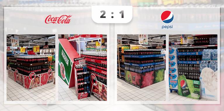 Coca Cola vs. Pepsi - Puchar Świata Rosja w Carrefour w Warszawie