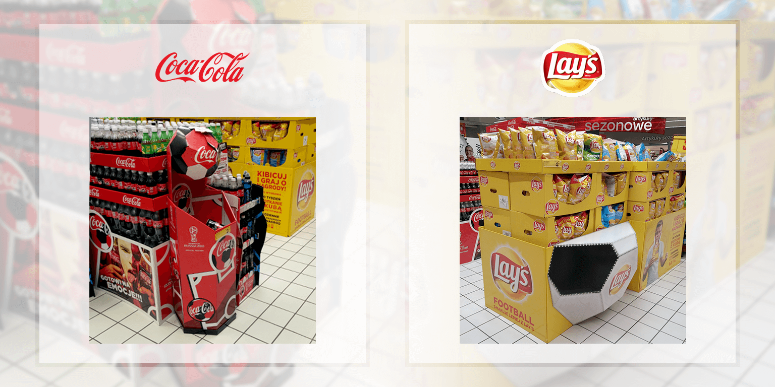 Shopper Marketing POS Stands Lay's Cola