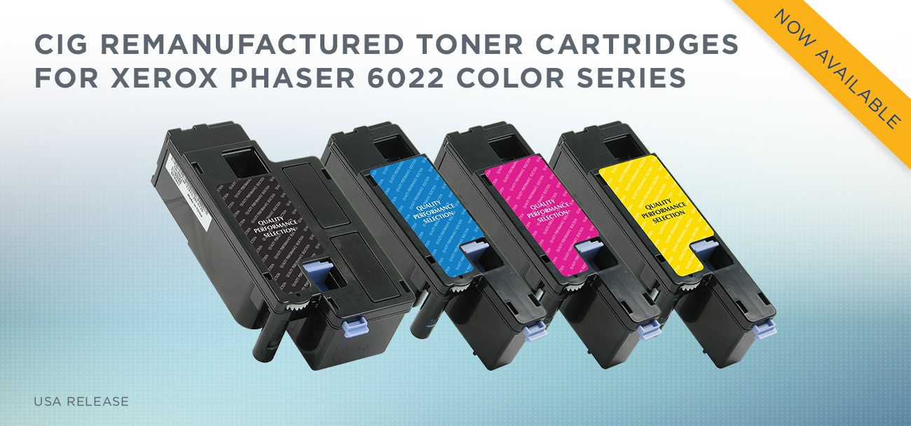 CLOVER  REMANUFACTURED TONER CARTRIDGES FOR XEROX PHASER 6022 COLOR SERIES