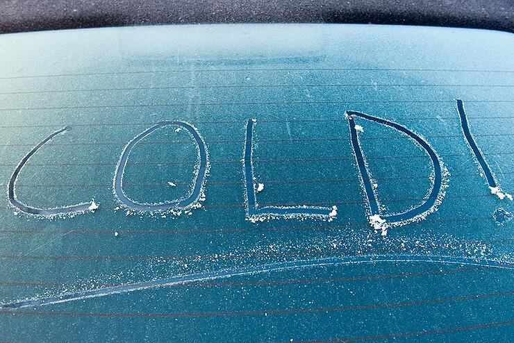 COLD windscreen