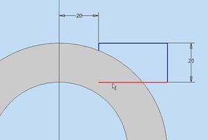 Tipps und Tricks für Autodesk Inventor: Skizze im Schnitt komplett sehen