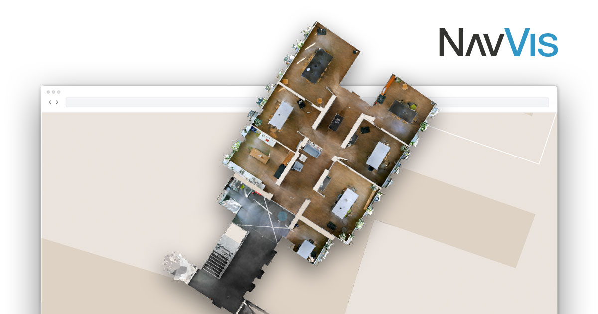 NavVis IndoorViewer interactive floor plan
