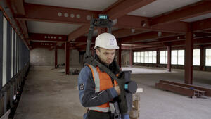 Scanning a high-rise building in Berlin with NavVis VLX